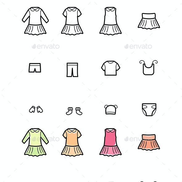 baby clothing graphics designs templates from graphicriver