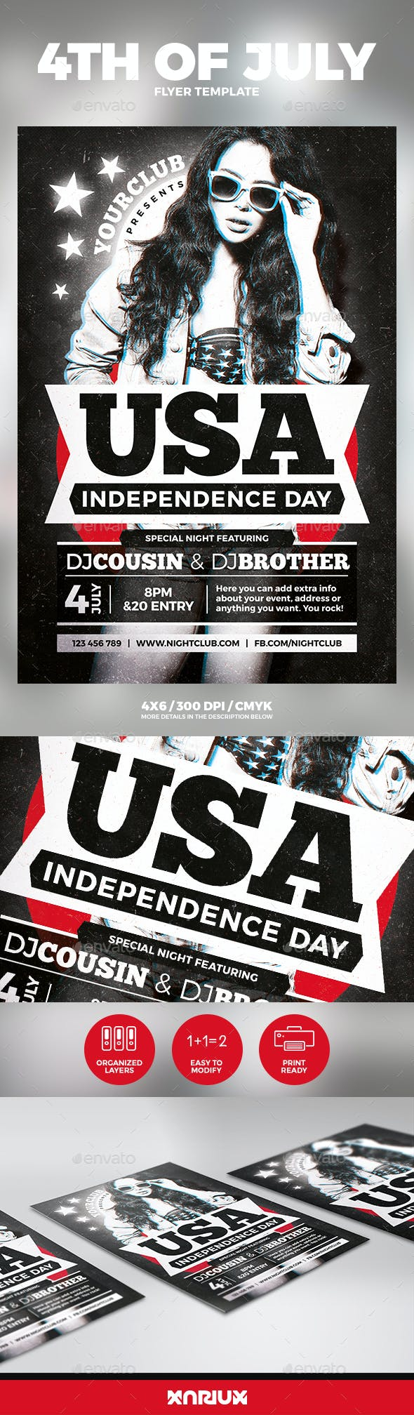 4th of july independence day flyer events flyers