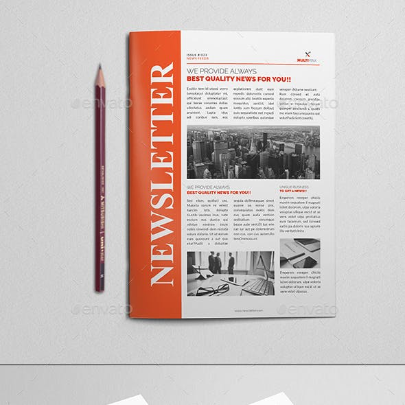 annual report and project newsletter templates from graphicriver