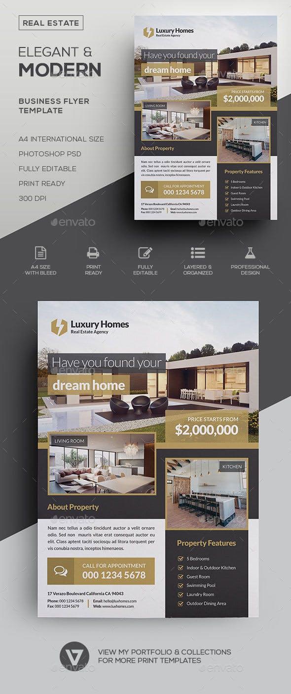 real estate flyer by verazo graphicriver