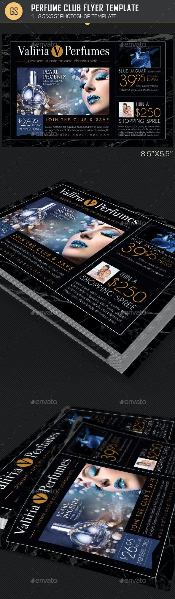 perfume club flyer template by godserv graphicriver