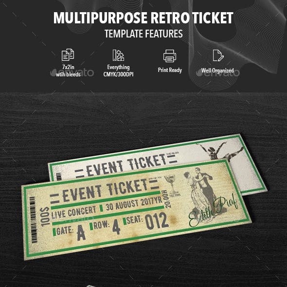 ticket design stationery and design templates from graphicriver