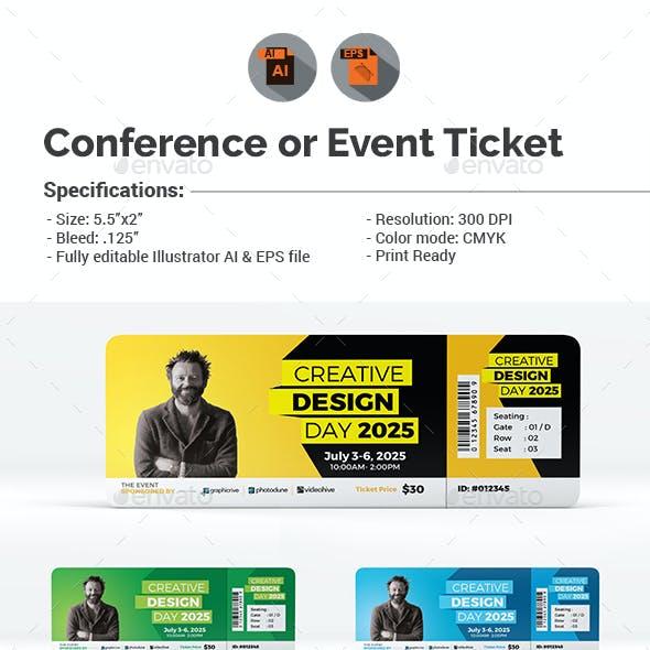 event ticket designs graphics designs templates
