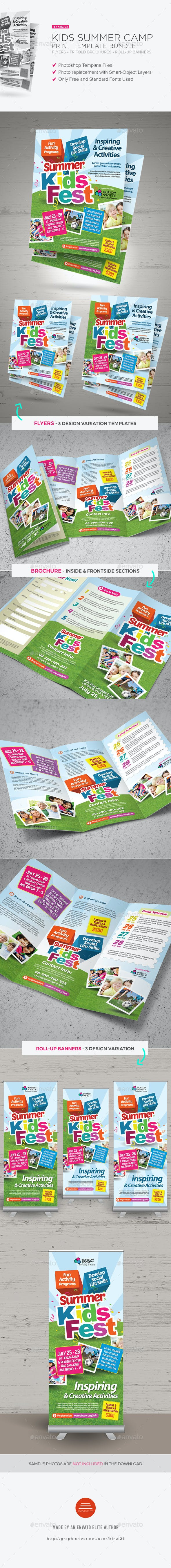 kids summer camp print bundle by kinzi21 graphicriver