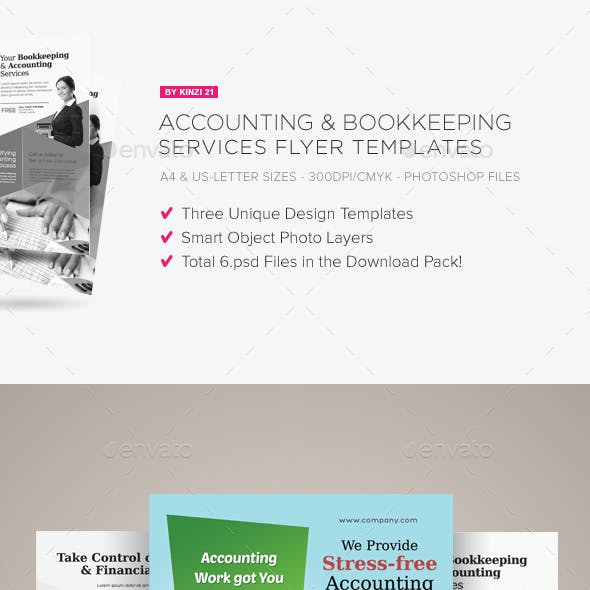 accounting and bookkeeping services flyers by kinzi21 graphicriver