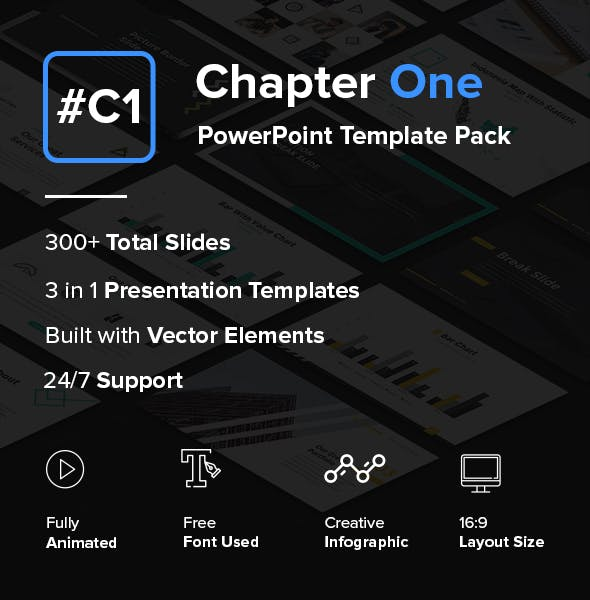 Chapter One Creative Powerpoint Template Pack By Suavedigital