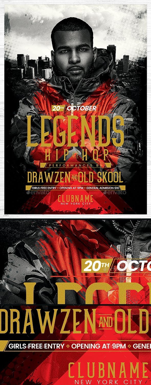 Hip Hop Flyer By DrawZen