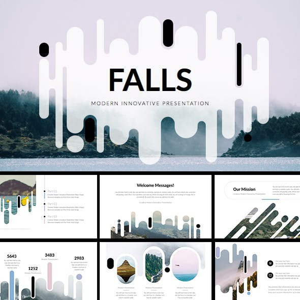 falling creative presentation templates from graphicriver