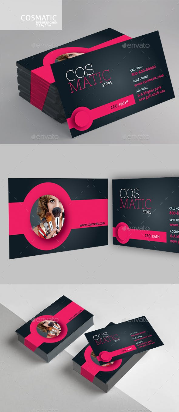 Cosmetic Business Card By Designcrew Graphicriver
