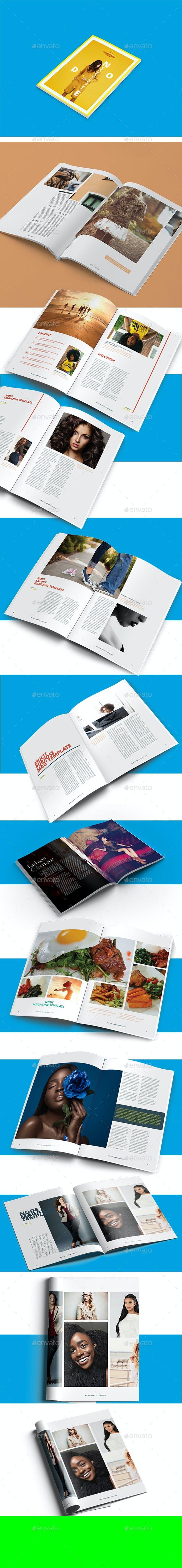 node minimalist magazine design template layout by evolysdigital