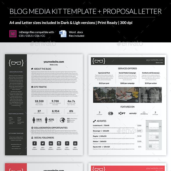 Corporate rate card graphics designs templates blog media kit template maxwellsz