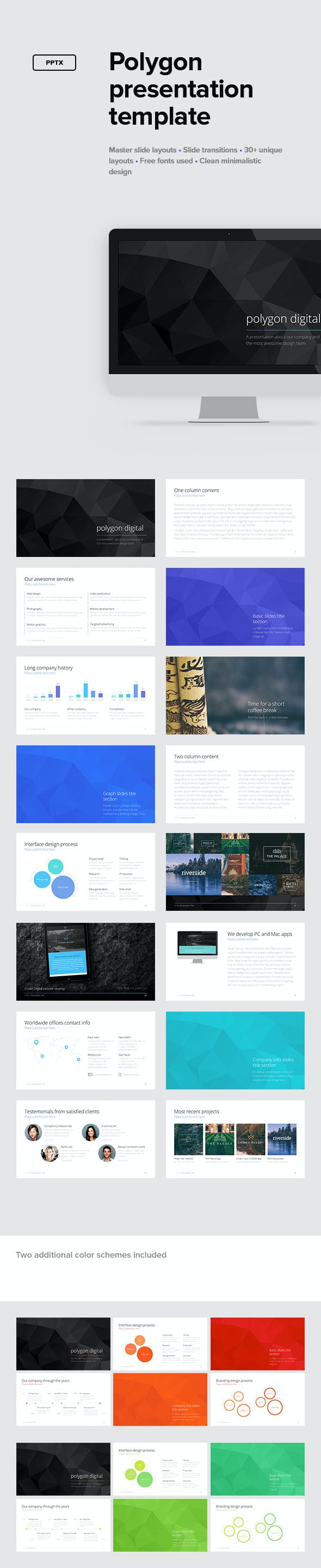 polygon presentation template by erigonn graphicriver