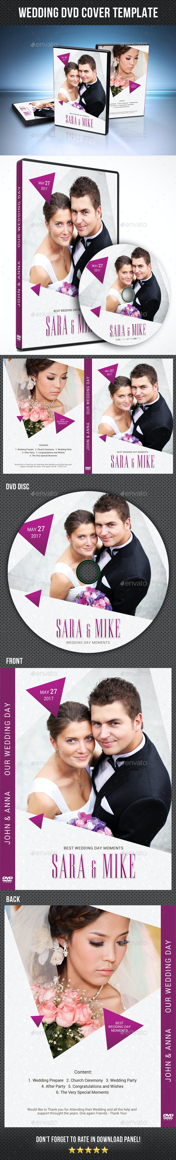 wedding dvd cover template 22 by rapidgraf graphicriver