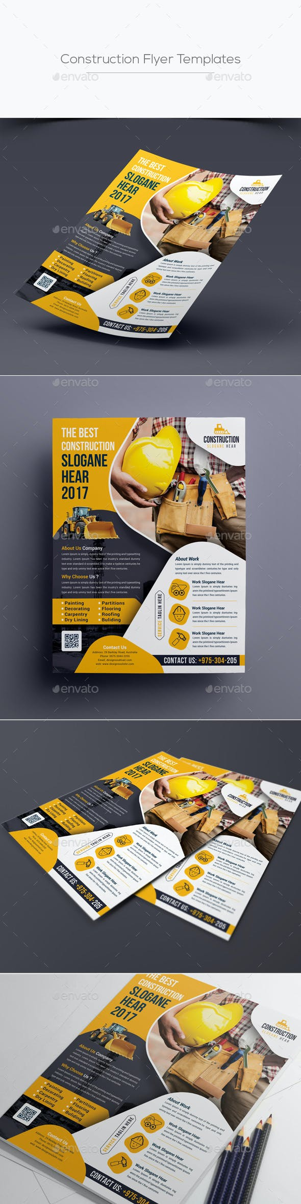 construction flyer template by designsoul14 graphicriver