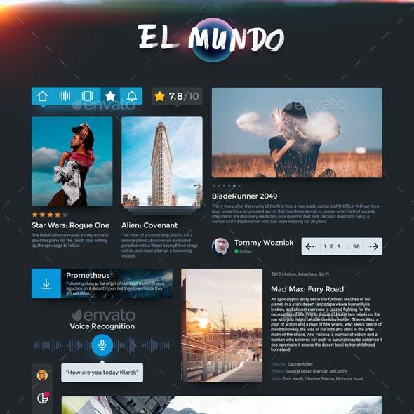 Phonegap graphics designs template from graphicriver el mundo universal desktop and mobile ui kit maxwellsz