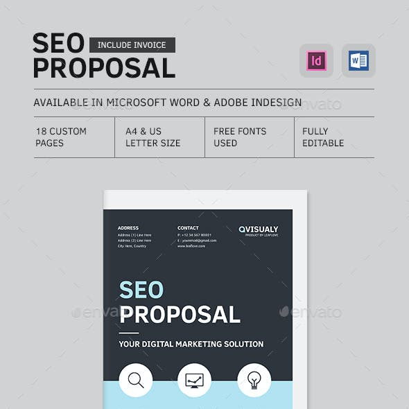 Seo Proposal and Web Graphics, Designs & Templates