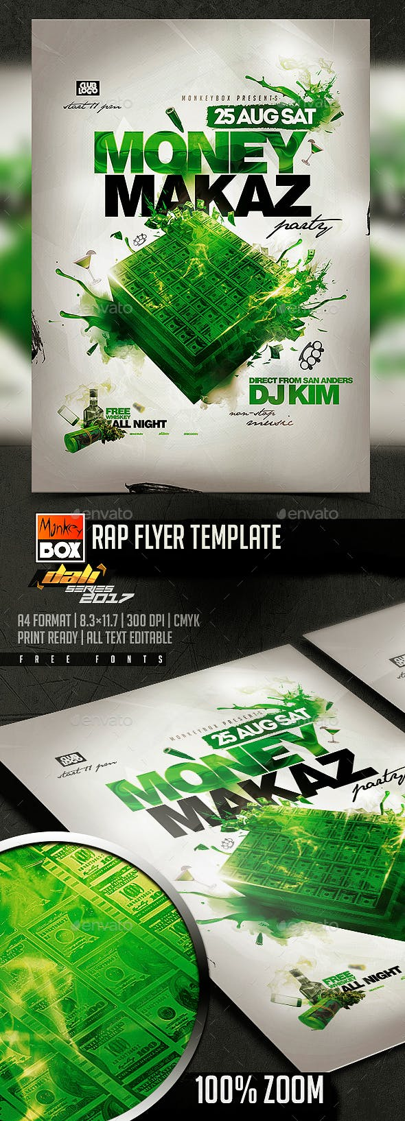 rap flyer template by monkeybox graphicriver