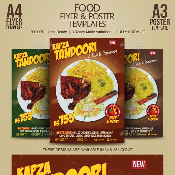 food flyer poster by blogankids graphicriver