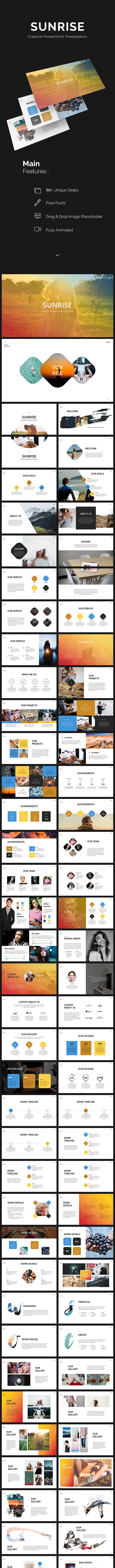 sunrise powerpoint presentation by grizzlydesign graphicriver