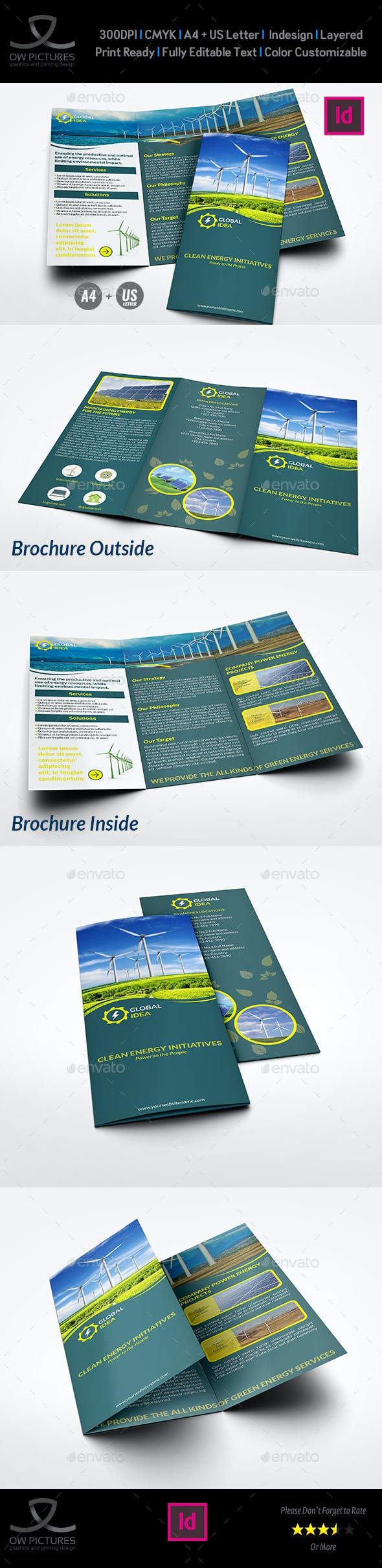 power energy services tri fold brochure template by owpictures