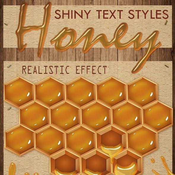 30 HoneyText Effect PS Styles asl.- Full Pack