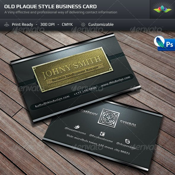 plaque stationery and design template from graphicriver