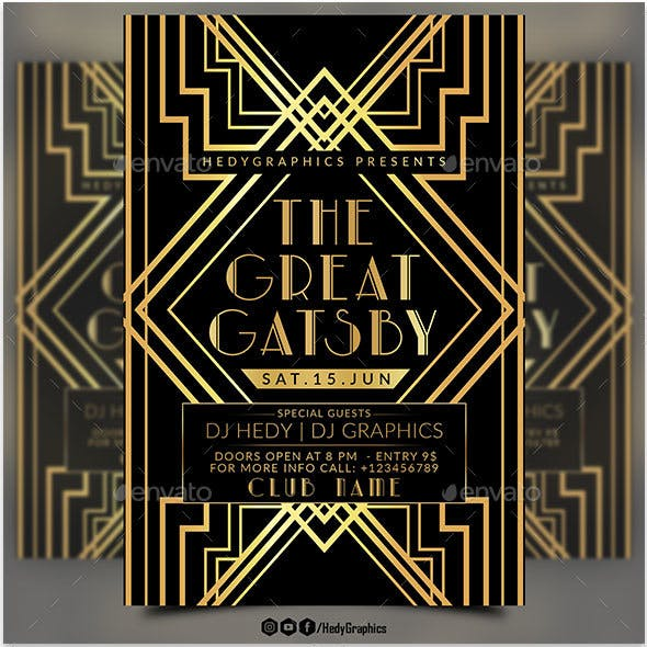 great gatsby stationery and design templates from graphicriver