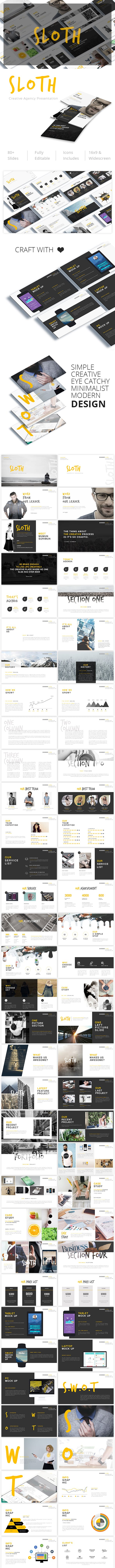sloth creative agency powerpoint template by giantdesign graphicriver