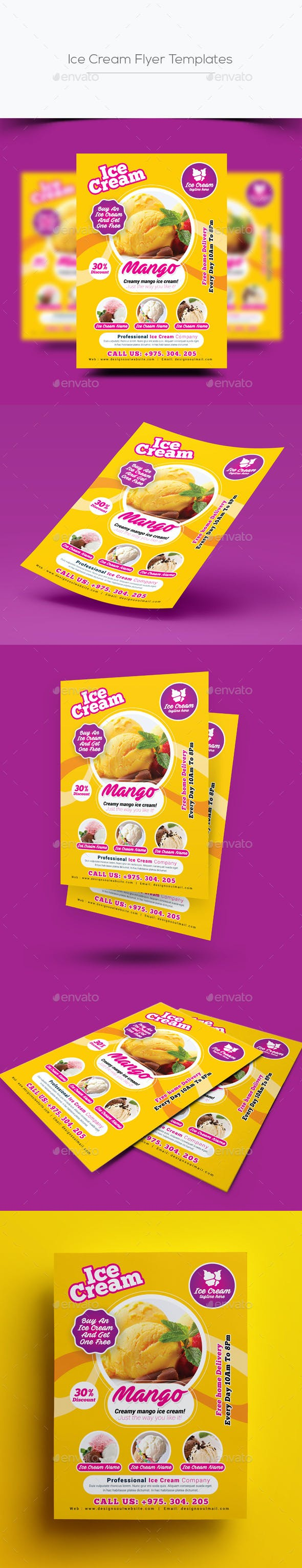 ice cream flyer template by designsoul14 graphicriver