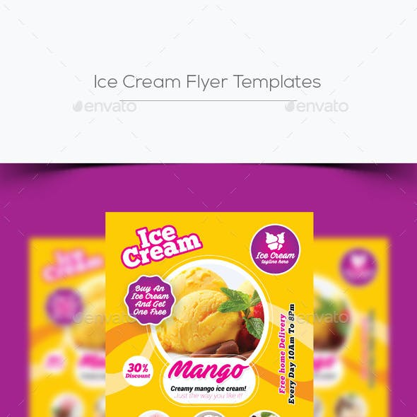 ice cream menu graphics designs templates from graphicriver