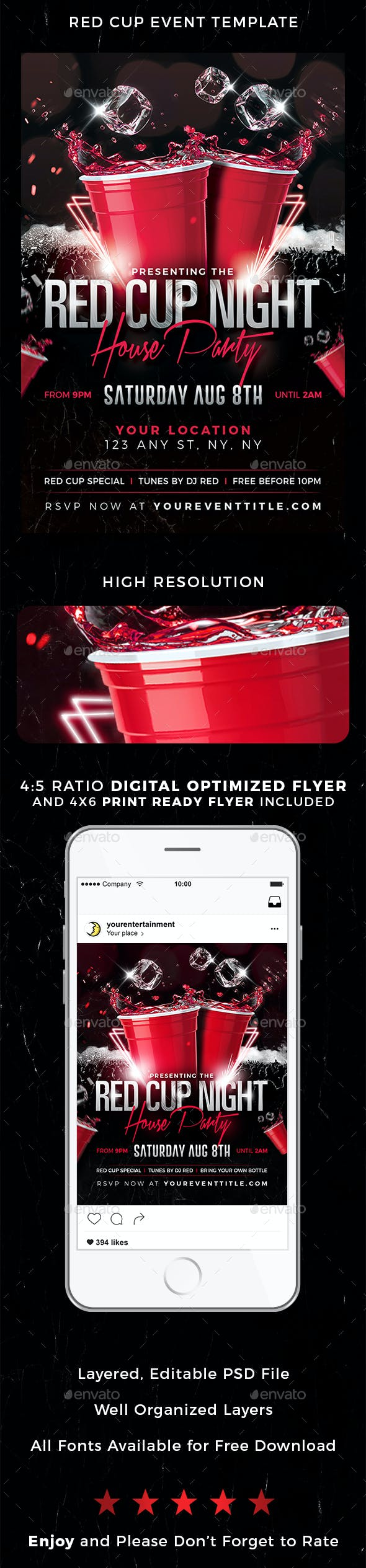 red cup event flyer by brothermoon graphicriver