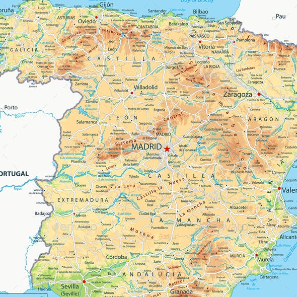 Moron Spain Map.Seville Graphics Designs Templates From Graphicriver