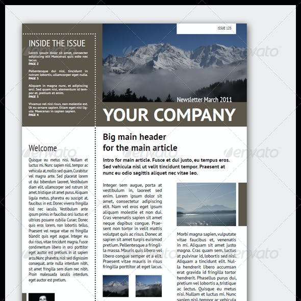 4 pages newsletter graphics designs templates