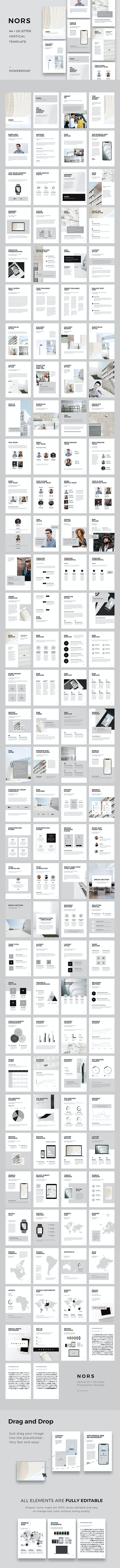 nors vertical powerpoint a4 us letter template powerpoint templates presentation templates