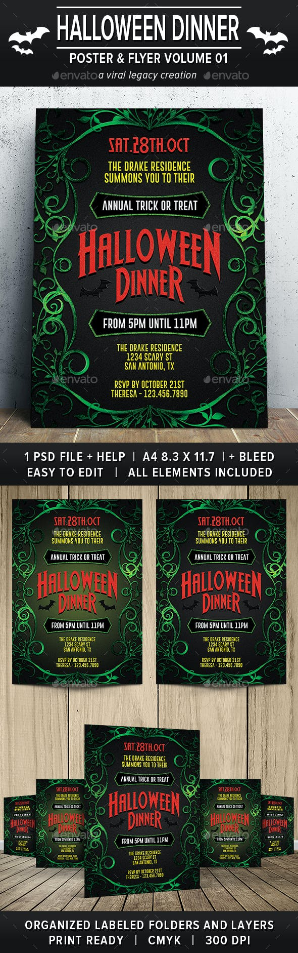halloween dinner party poster flyer v01 by viral legacy graphicriver