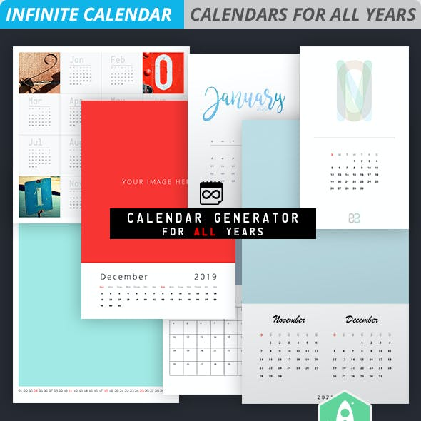 infinite calendar calendar generator for all years by designrocketnet