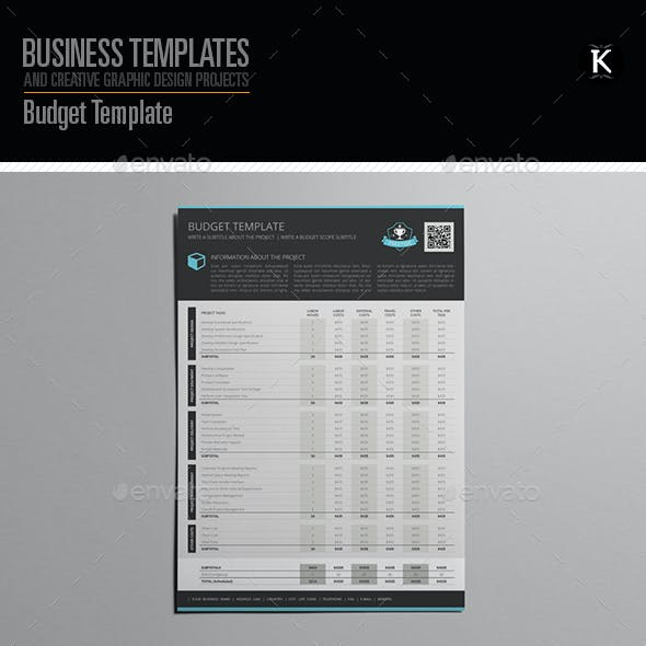 Budget Template Graphics Designs Templates From Graphicriver