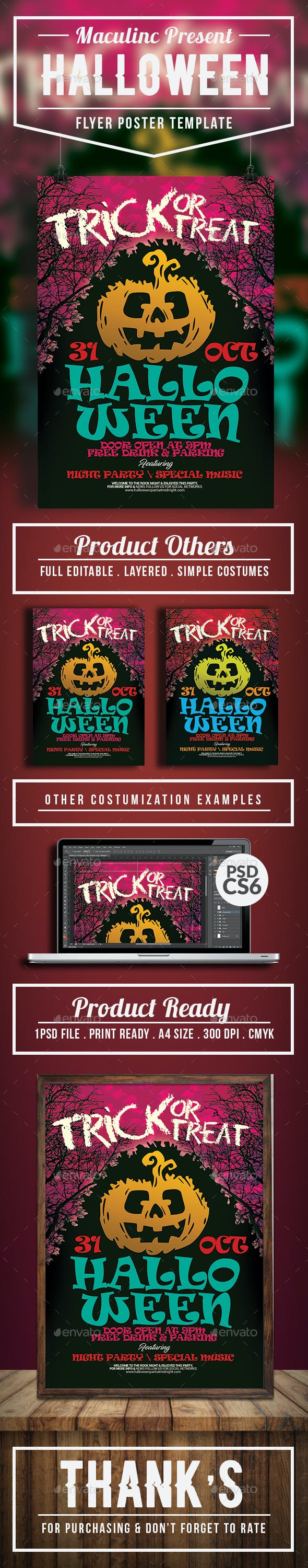halloween flyer poster vol 4 by maculinc graphicriver