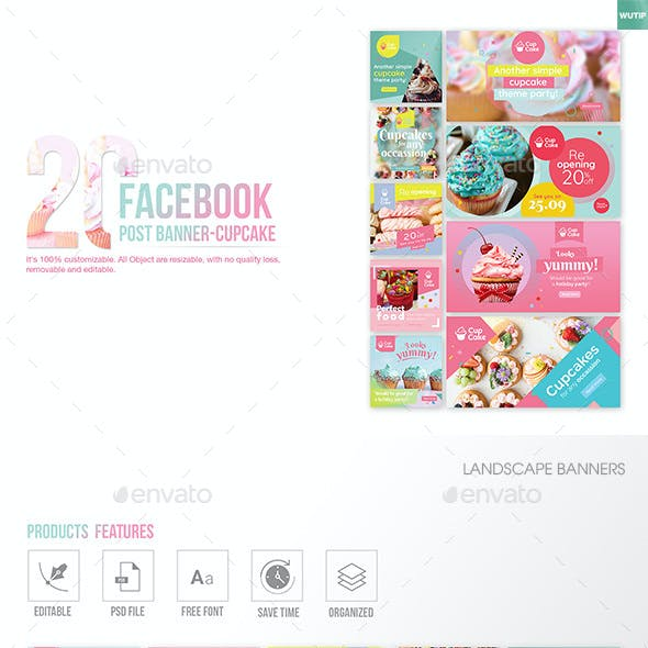 Cupcake Mockup Web Elements from GraphicRiver