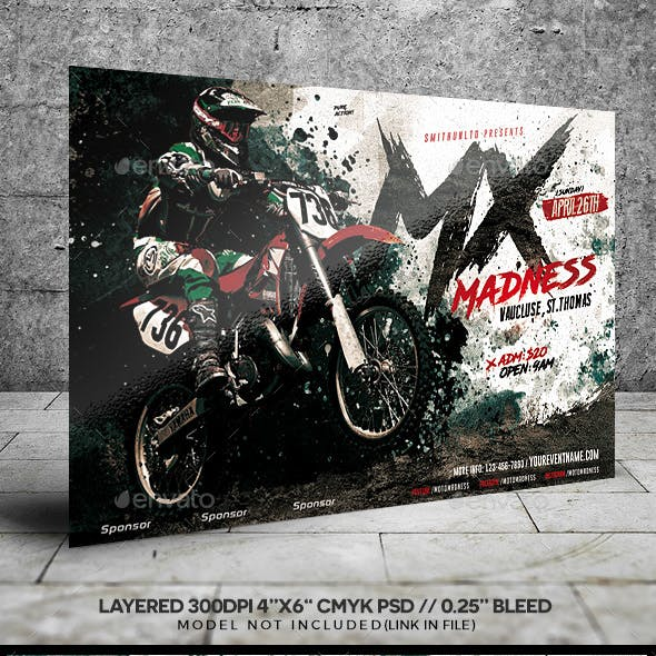 dirtbike graphics designs templates from graphicriver