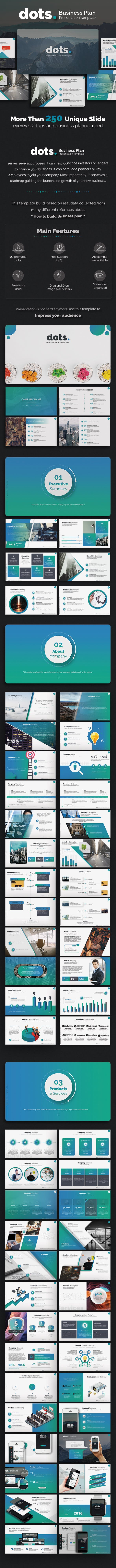 dots business plan powerpoint template by premast graphicriver