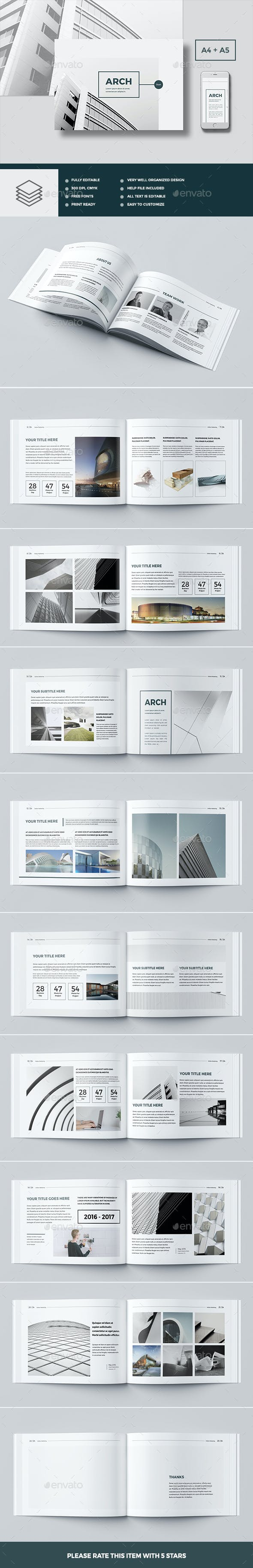 modern architecture brochure 24 pages a4 a5 by pro gh graphicriver