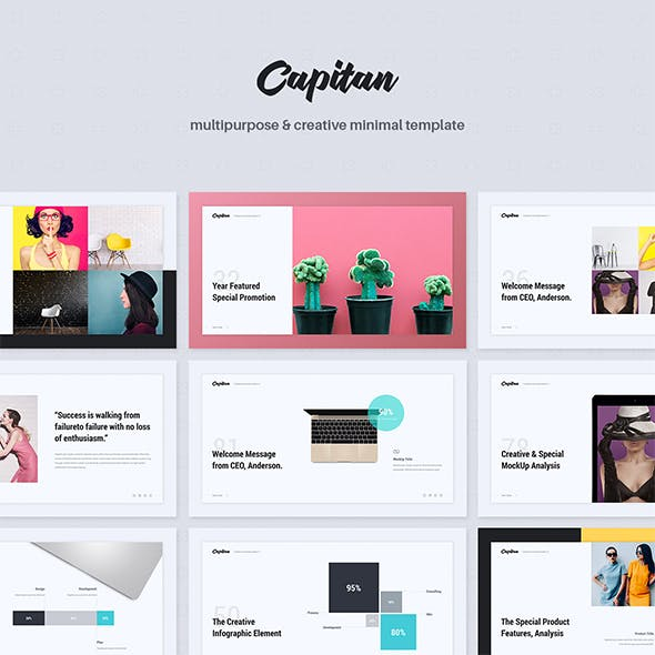 Capitan Minimal Creative Template Powerpoint By Simplesmart