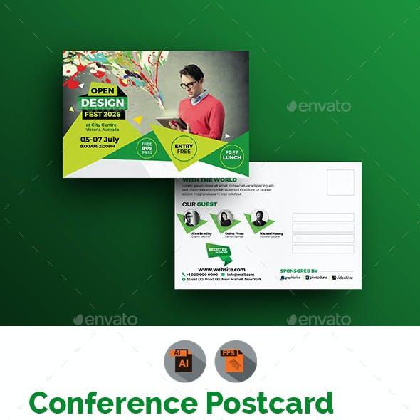 Conference Postcard Graphics Designs Templates