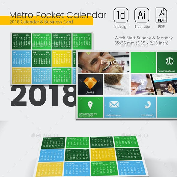 pocket calendar 2019 metro style by gizer graphicriver