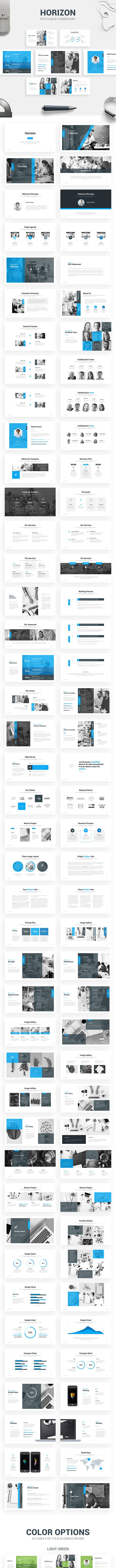 horizon pitch deck template by seventhin graphicriver