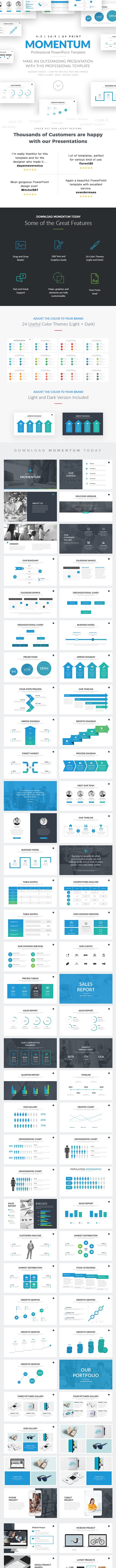 momentum professional business powerpoint template by louistwelve design