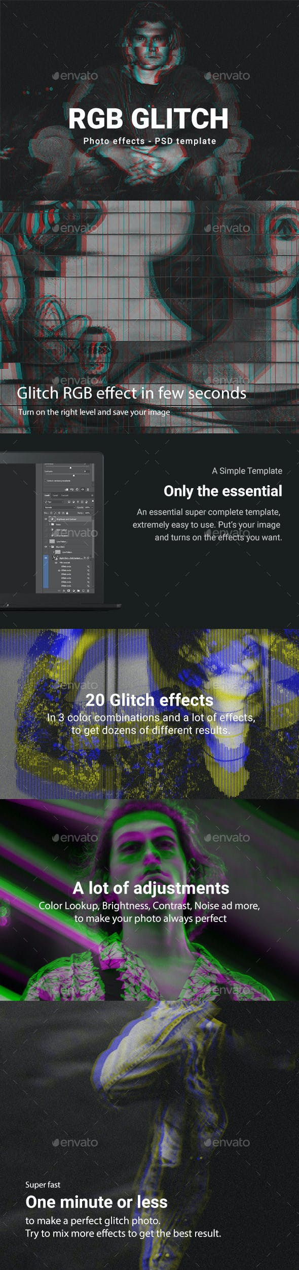 rgb glitch photoshop template by ragestudio graphicriver
