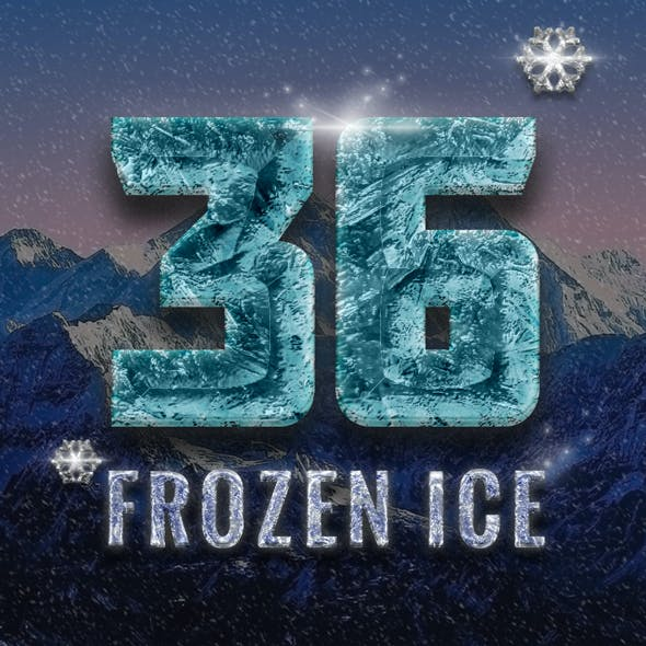 36 Frozen Ice Text Effect