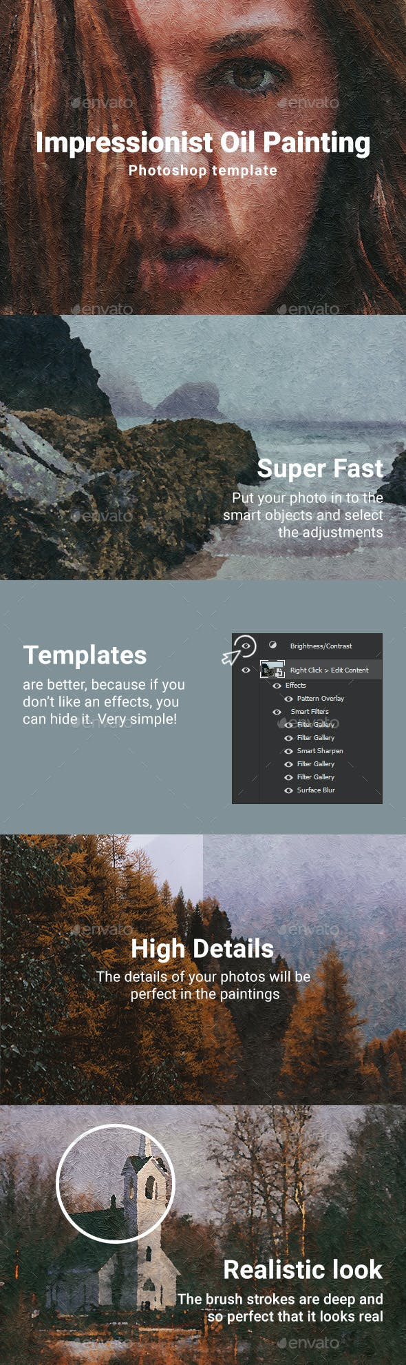 Impressionist Oil Painting Template By Ragestudio Graphicriver